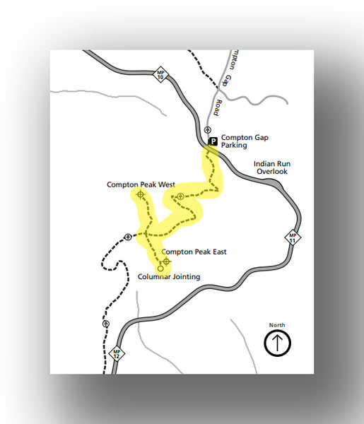 Compton Peak Trail map in Shenandoah National Park