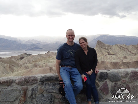 Amy and Pete in Death Valley National Park