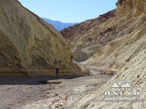 Hiking back from the Red Cathedral in Death Valley National Park