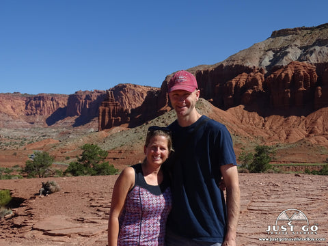 Pete and Amy in Capitol Reef National Park