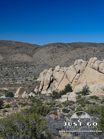 Rock formations on the Ryan Mountain Trail in Joshua Tree National Park