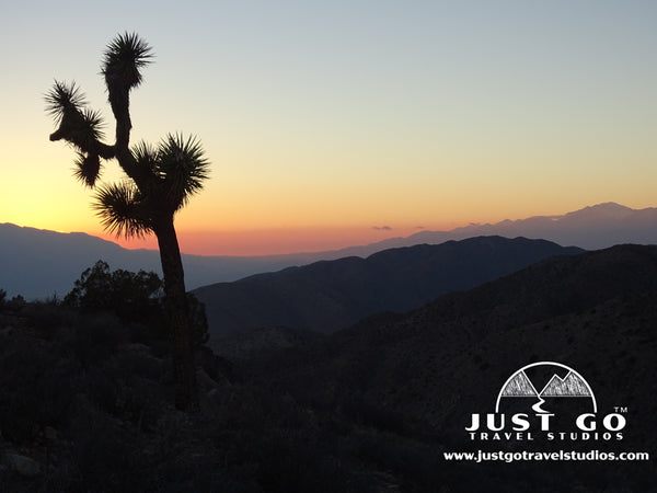 Keys View at Sunset in Joshua Tree National Park