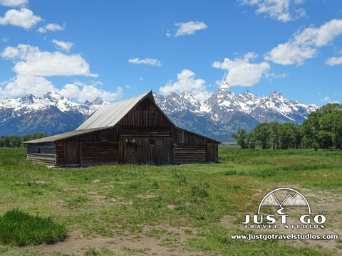 Moulton Barn in Mormon Row in Grand Teton National Park