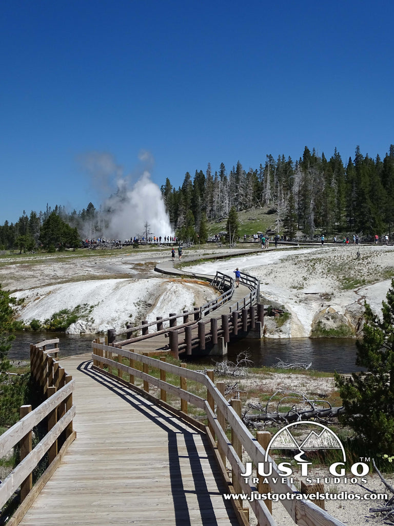 Upper Geyser Basin in Yellowstone National Park