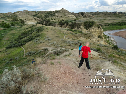 The wind canyon nature trail in Theodore Roosevelt National Park