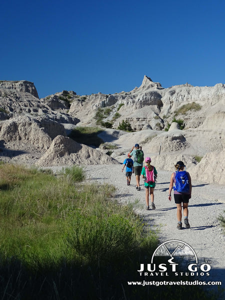 Starting off on the Notch Trail in Badlands National Park