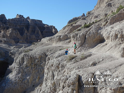 The canyons in the Notch Trail in Badlands National Park