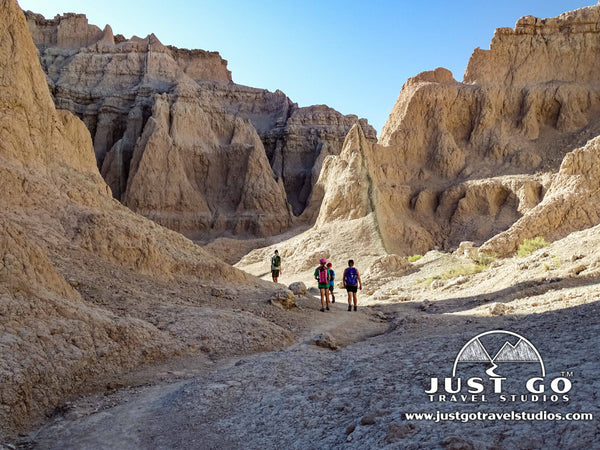 Path on the Notch Trail in Badlands National Park