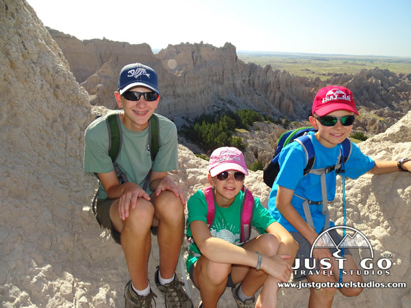 Hanging out at the Notch in Badlands National Park