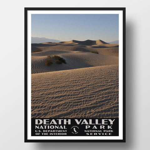 Mesquite sand dunes National park poster
