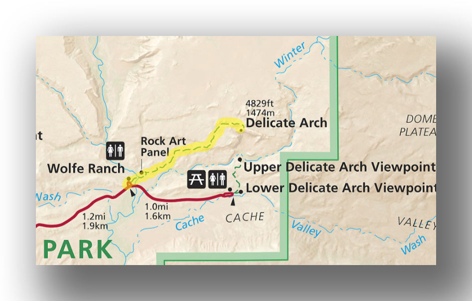 Delicate Arch Trail Map