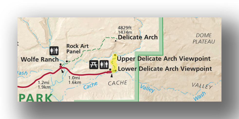 Delicate Arch Viewpoint map