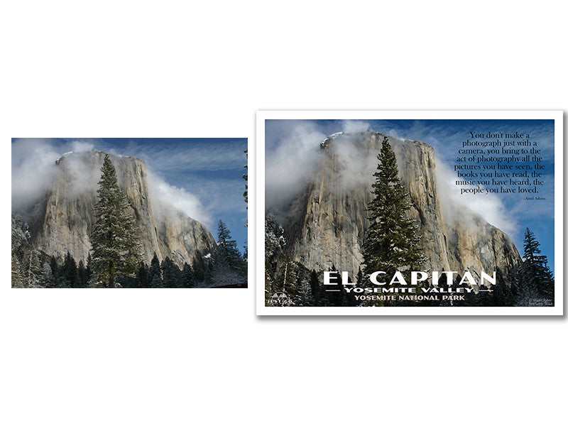 El Capitan and Yosemite National Park Poster