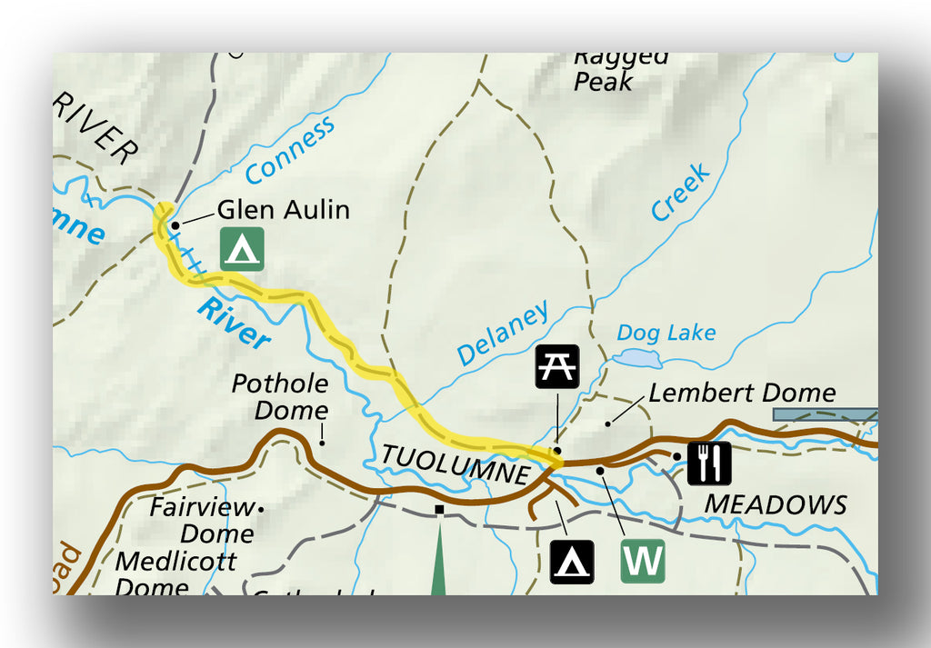 Glen Aulin Trail map