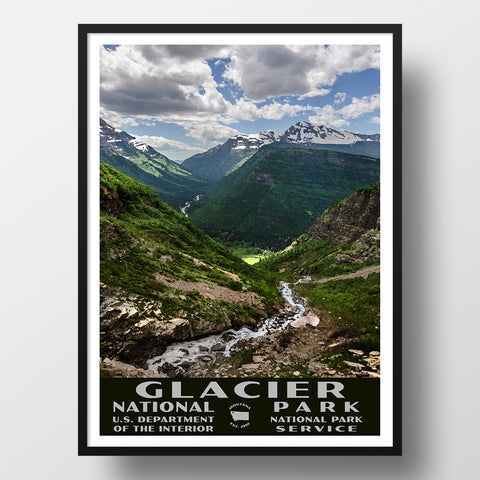 Glacier National Park, custom travel poster