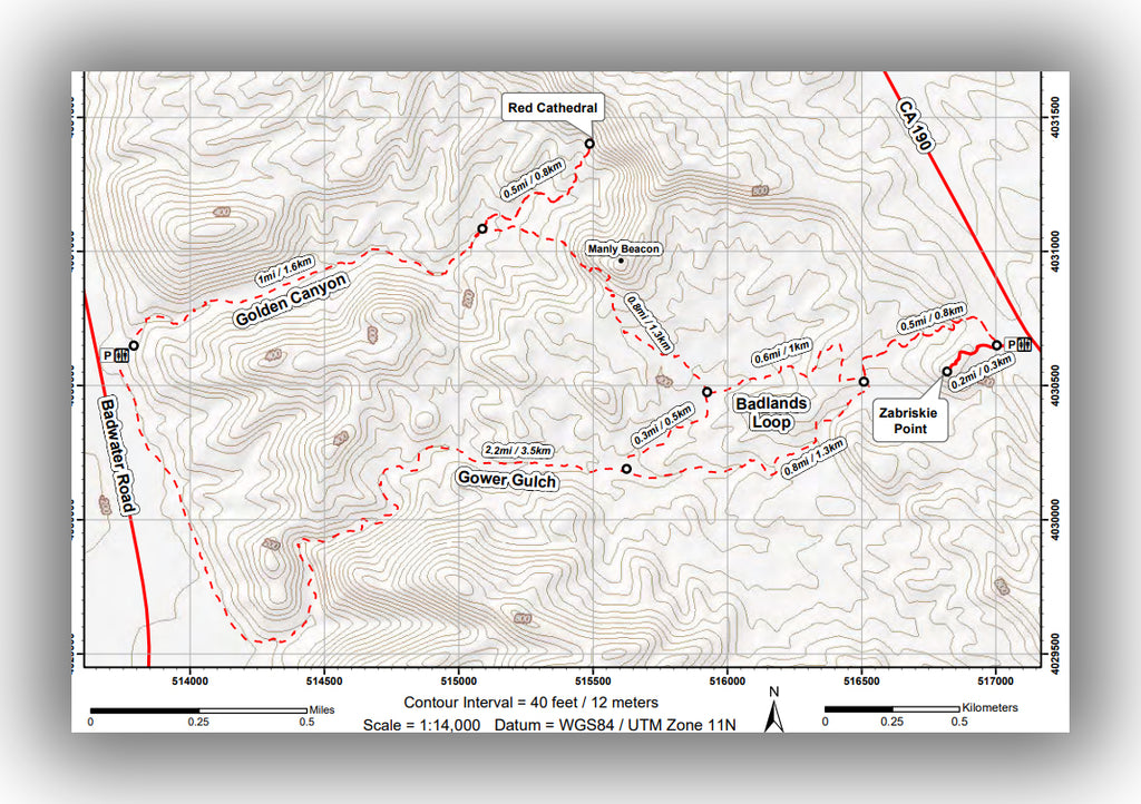 Golden Canyon Trail Map