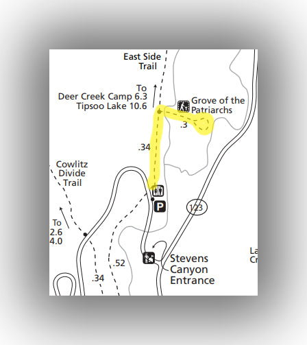 Grove of the Patriarchs Hiking map