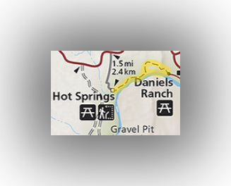 Hot Springs Trail map in Big Bend National Park