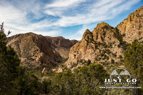 Views in the Chisos Basin on the Lost Mine Trail in Big Bend National Park