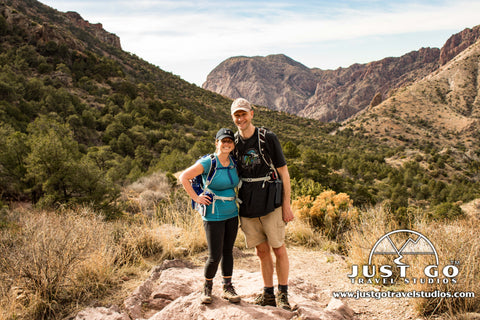 Amy and Pete Brahan on the Lost Mine Trail in Big Bend (from Just Go Travel Studios)