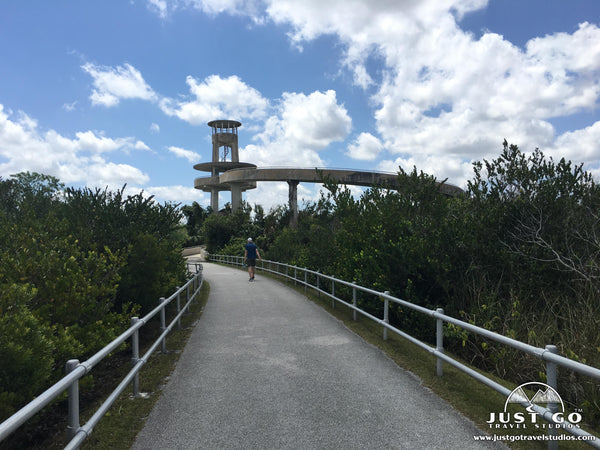 tower in shark valley in Everglades National Park