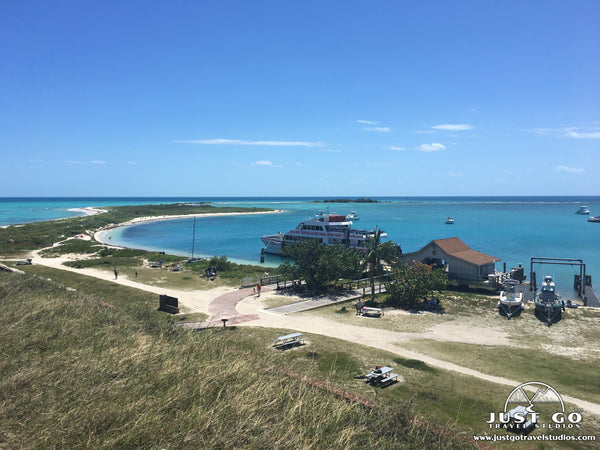 view of the yankee freedom at dry tortugas national park