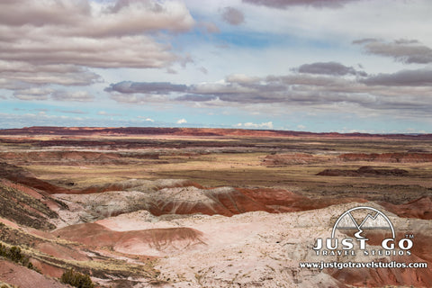 The painted desert in Petrified Forest National Park