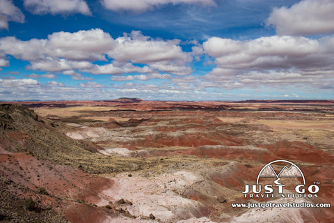 View of the Painted Desert from Petrified Forest National Park