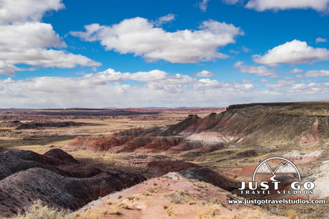 A view from Nizhoni Point in the Painted Desert in Petrified Forest National park