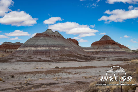 The teepees in Petrified Forest National Park