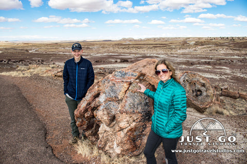 Just Go Travel Studios visits Petrified Forest National Park