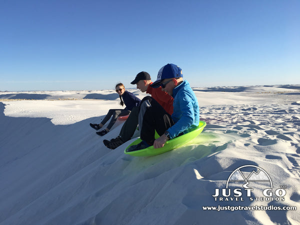 White Sands National Monument sledding
