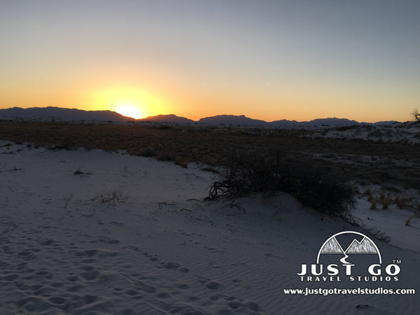 sunset in White Sands National Monument