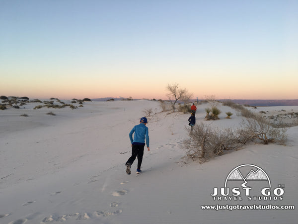 hiking in White Sands National Monument