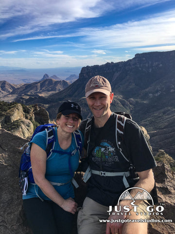 Amy and Pete in Big Bend National Park
