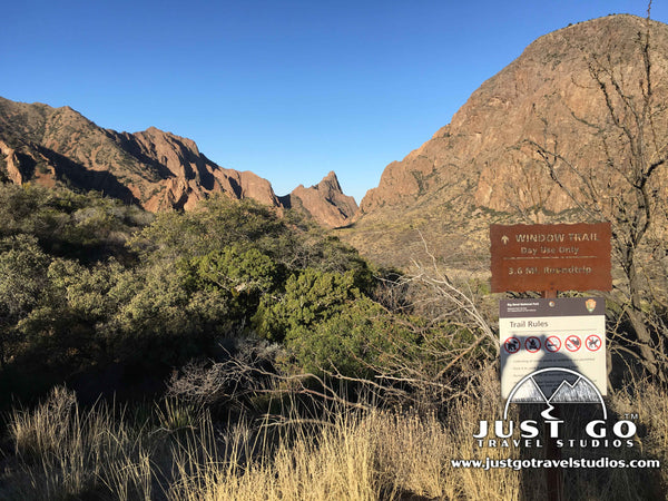 Window Trail Sign in Big Bend National Park