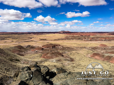 A view from Chinde Point in the Painted Desert in Petrified Forest National Park