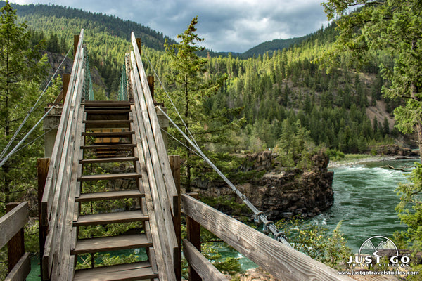 kootenai falls suspension bridge