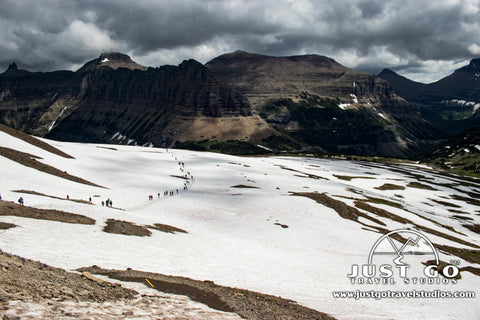 Snow near Logan Pass in Glacier National Park