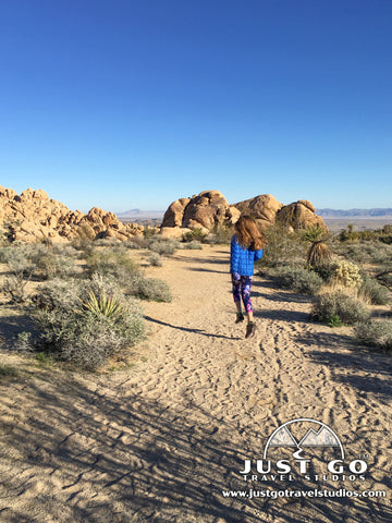 Hiking on the Indian Cove Nature Trail in Joshua Tree National Park