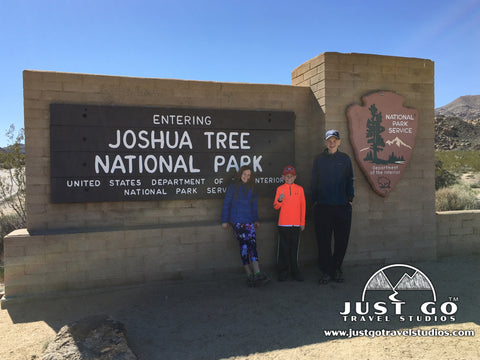 Entering into Joshua Tree National Park from the North Entrance