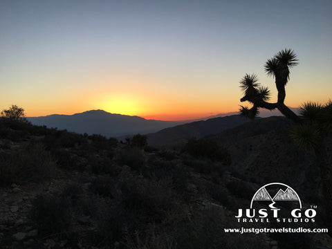 Sunset from Keys View in Joshua Tree National Park