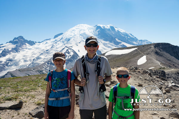 Mount Rainier National Park and the Just Go Travel Kids