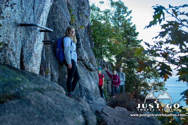 Hiking on the Precipice Trail in Acadia National Park