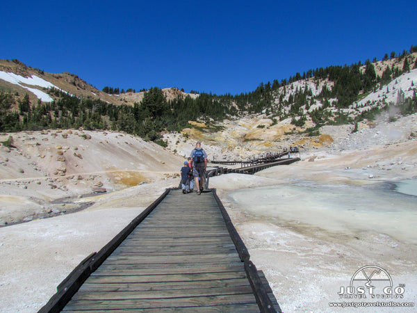 Boardwalk in Bumpass Hell in Lassen Volcanic National Park