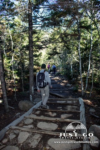 The hike down from South Bubble in Acadia National Park