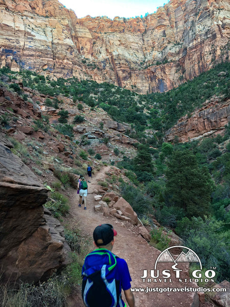 Climbing up the Watchman Trail in Zion National Park