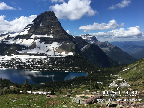 Brearhat Mountain and Hidden Lake in Glacier National Park