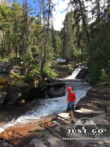 Near St. Mary Falls in Glacier National Park