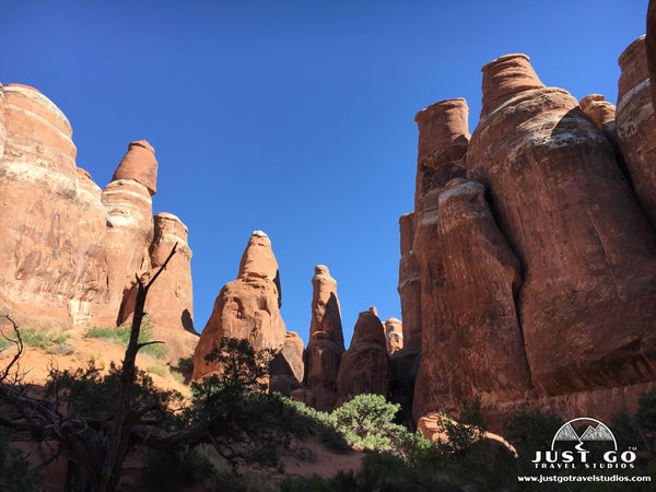 Fiery Furnace trail in Arches National Park